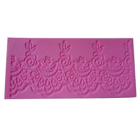 Rosebud Scalloped Border Sugar Lace Mold