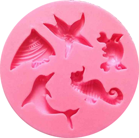 Marine Animals Silicone Mold - Miles Cake & Candy Supplies
