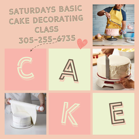 Saturday Basic Cake decorating (3 days)
