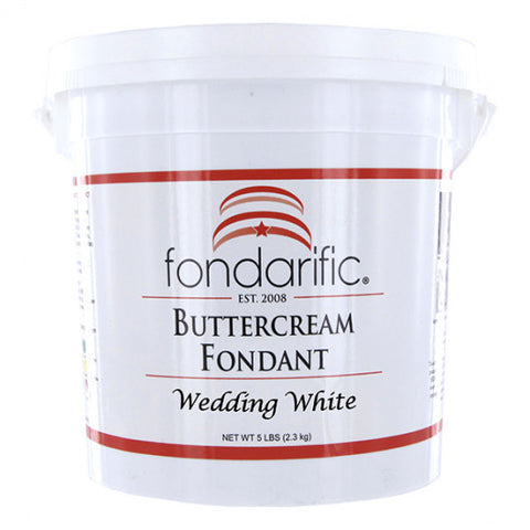 Fondarific Buttercream Wedding White Fondant, 5 lbs