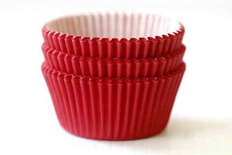 Red Mini Glassine Baking Cups