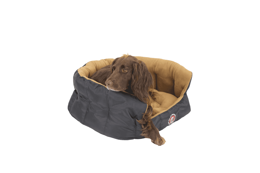 The Doggy Teddy X-Treme All Weather Dog Basket | Black