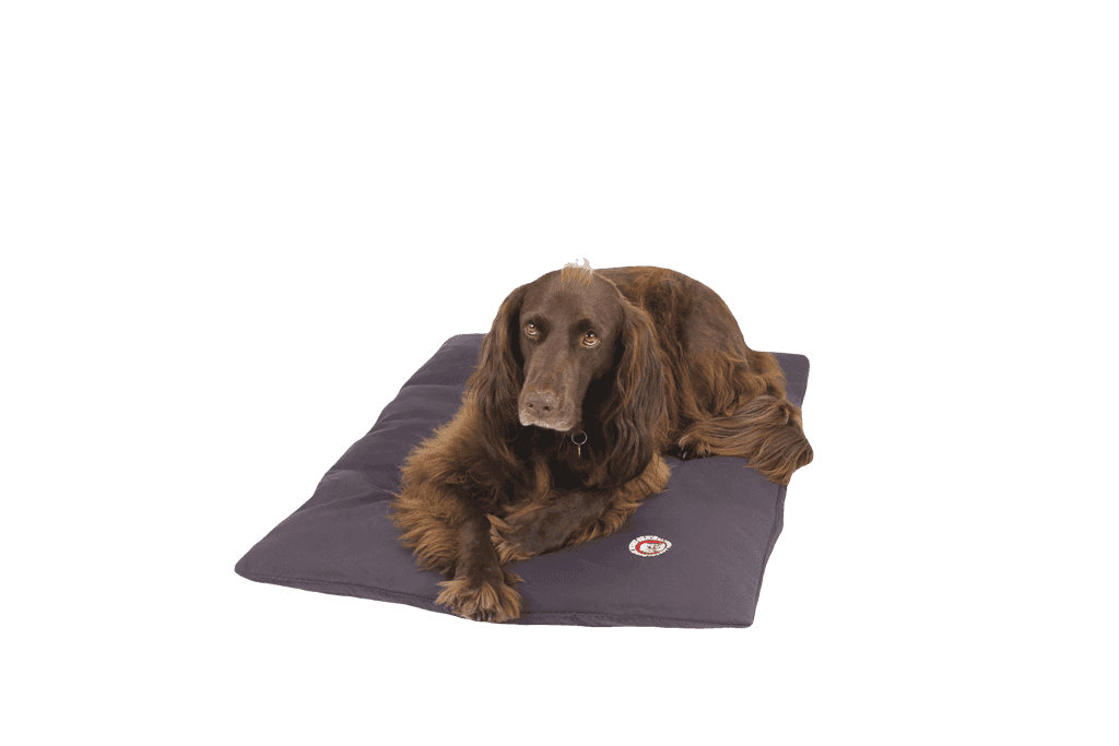 The Doggy Duvet Bench Original Dog Mat  |  Shale