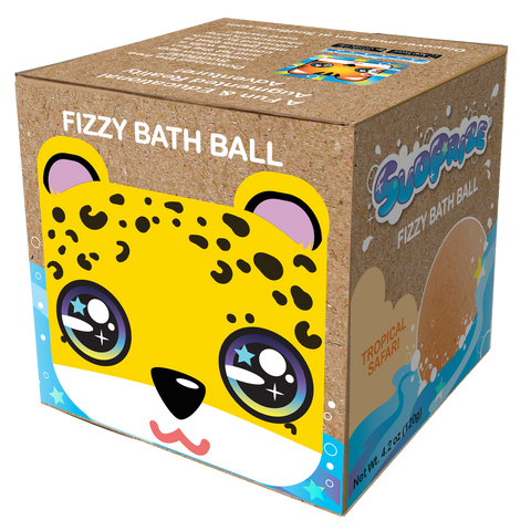 "Joey the Cheetah Fizzy Bath Ball <p><font size=""3"">Item #SUD002</font>"