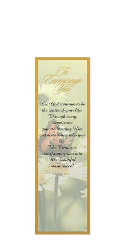 To Encourage You Bookmark – Without Tassel