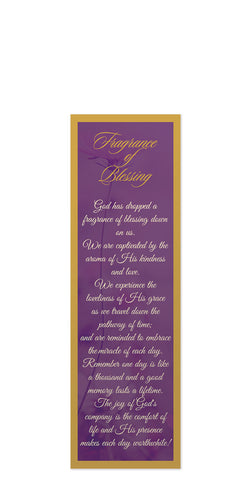 Fragrance of Blessing Bookmark – Without Tassel