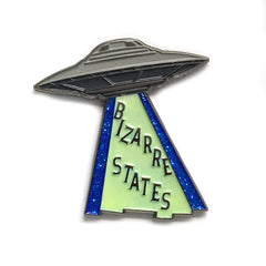 Bizarre States UFO Glow-in-the-Dark Enamel Pin