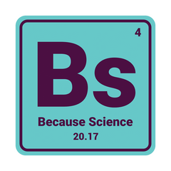 Because Science Logo Vinyl Decal