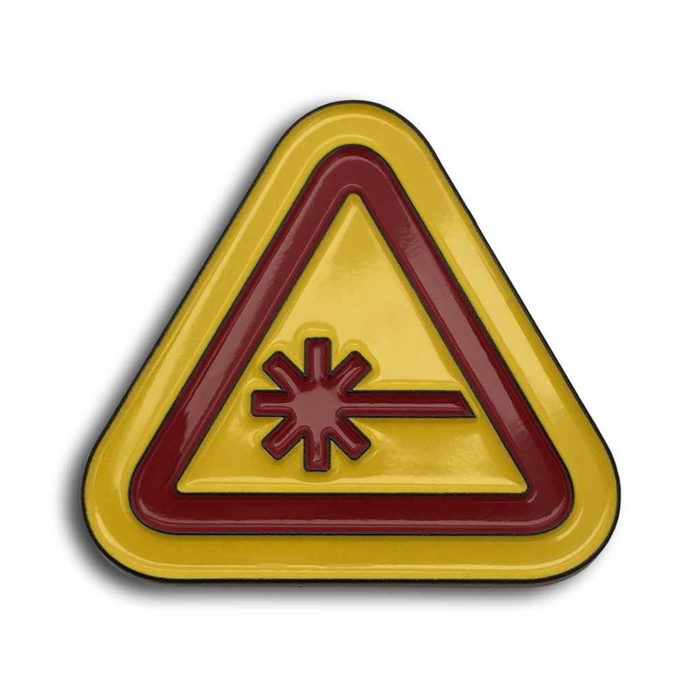 Nerdist Caution Yellow Enamel Pin