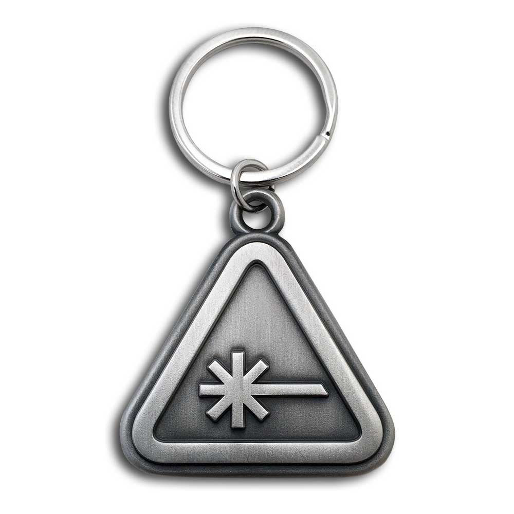 Nerdist Caution Keychain