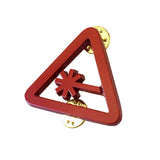 Nerdist Caution Cut Out Pin