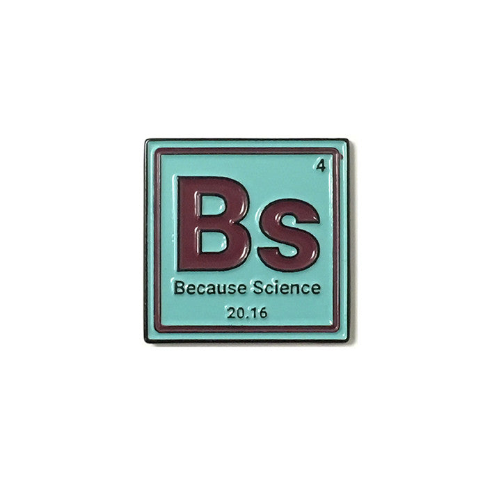 Because Science Element Enamel Pin