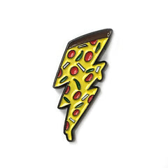 Nerdist Pizza Bolt Enamel Pin
