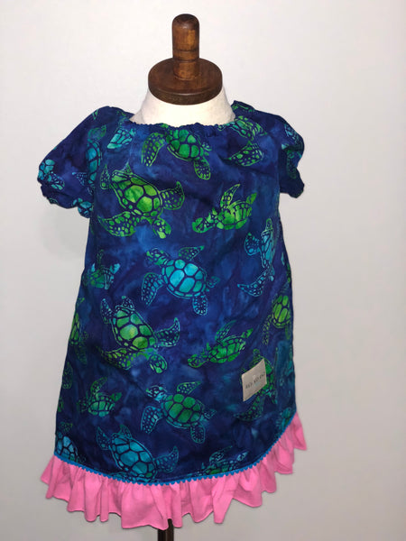 Sea Turtle Girls Short Sleeve