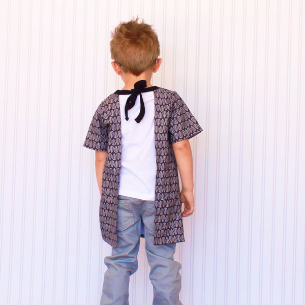 Boy's Label-Saver Bib  {Geo Leaves}