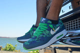 Green Slightly Waxed With Gold Tips Shoelaces