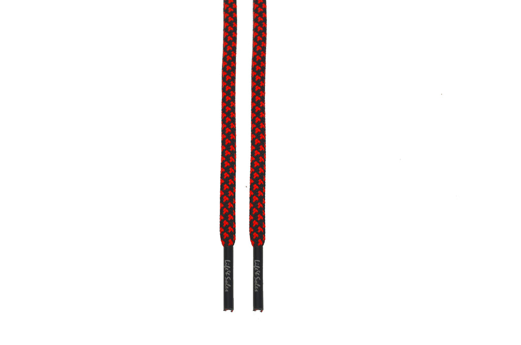 Black & Red Rope Shoelaces