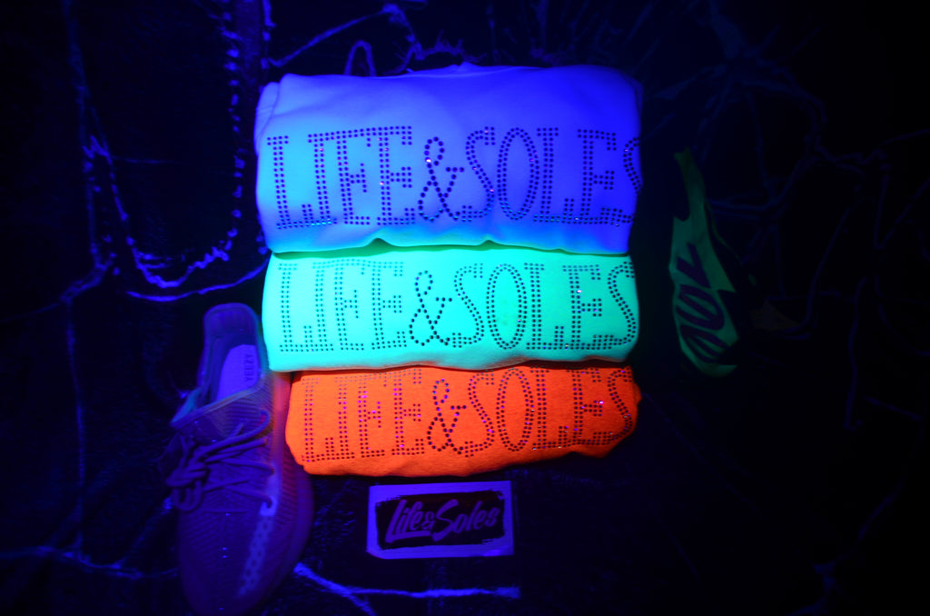 Life&Soles Neon Rhinestone Hoodies