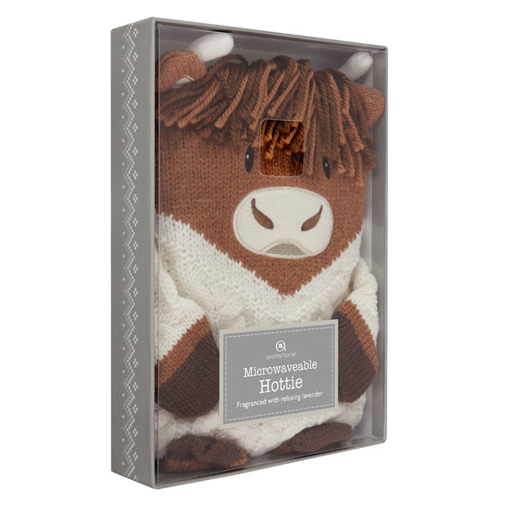 Aroma Home Microwavable Hottie - Highland Cow