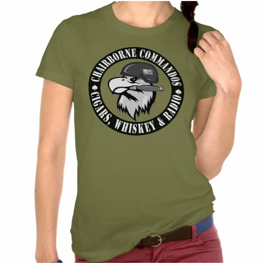 Ladies Smoking Eagle Round T-Shirt