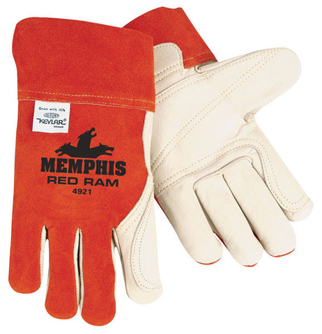 MCR Safety Red Ram Welder Gloves- 4921 - image