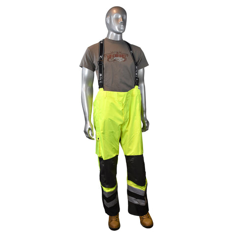 Radians RW32-EZ1Y Heavy Duty Rip Stop Waterproof and Breathable Pants - Bib - image