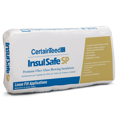 CertainTeed InsulSafe¨ SP Fiberglass Blowing Insulation -