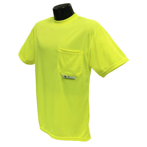 Radians ST11-N Non-Rated Short Sleeve Hi-Vis T-Shirt with Max-Dri - Hi-Viz Green - Image