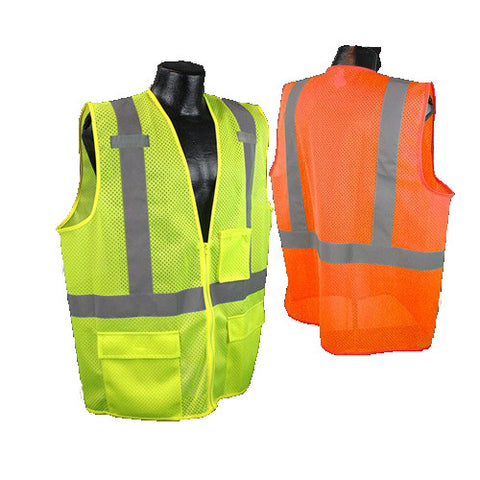 Radians SV27 Mulitpurpose Hi-Vis Surveyor Class 2 Safety Vest - Hi-Viz Green - Orange - image