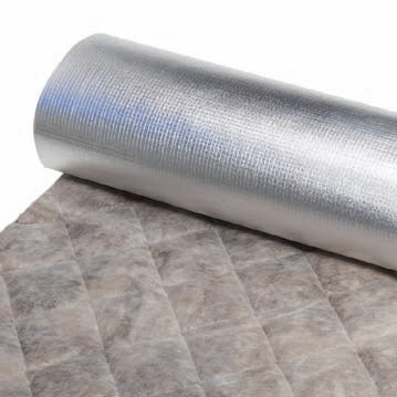 B-10 LAG-QFA-9 Acoustical Pipe and Duct Wrap Insulation, 54in-x-30ft- Roll- image