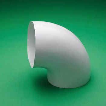 PVC 90° Long Radius Elbow Cover - 1 Piece - insert - White - image