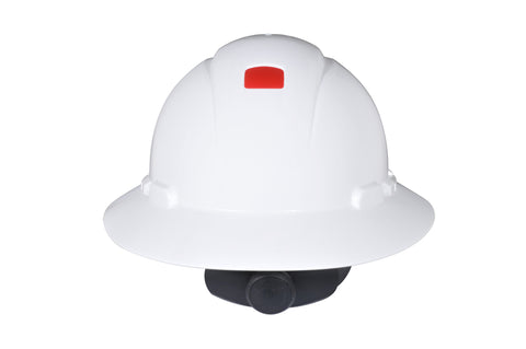 3m-hard-hat-h-800-series-full-brim-uvicator-non-vented-4pt-ratchet-white-h-801r-uv-image