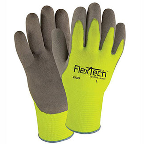 FlexTech Hi-Vis Palm-Coated Gloves - Image