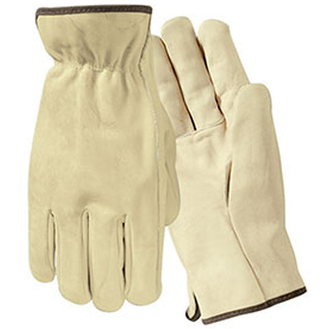 Wells Lamont Y0135 Economy Grain Leather Driver Gloves, 12/PK -