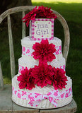 Tropical Pink Girl Diaper Cake
