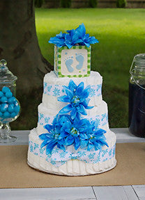 Tropical Blue Boy Diaper Cake