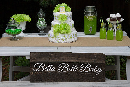 Tropical Green Neutral Diaper Cake