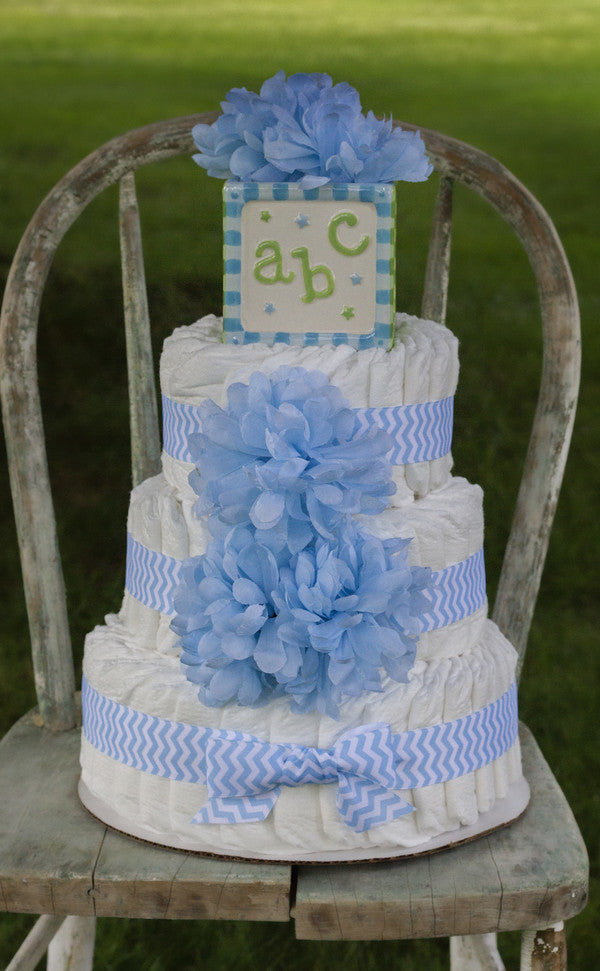 Three Tier Diaper Cake