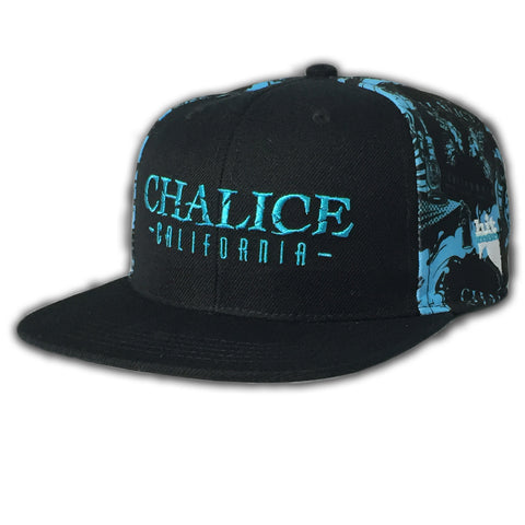 Chalice Icon Pattern Hat Black/Blue