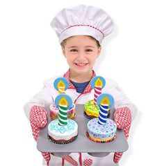 Melissa & Doug – Wooden Cupcake Set