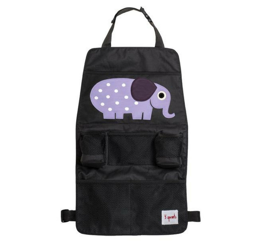 3 Sprouts – Organizador para Carro Purple Elephant