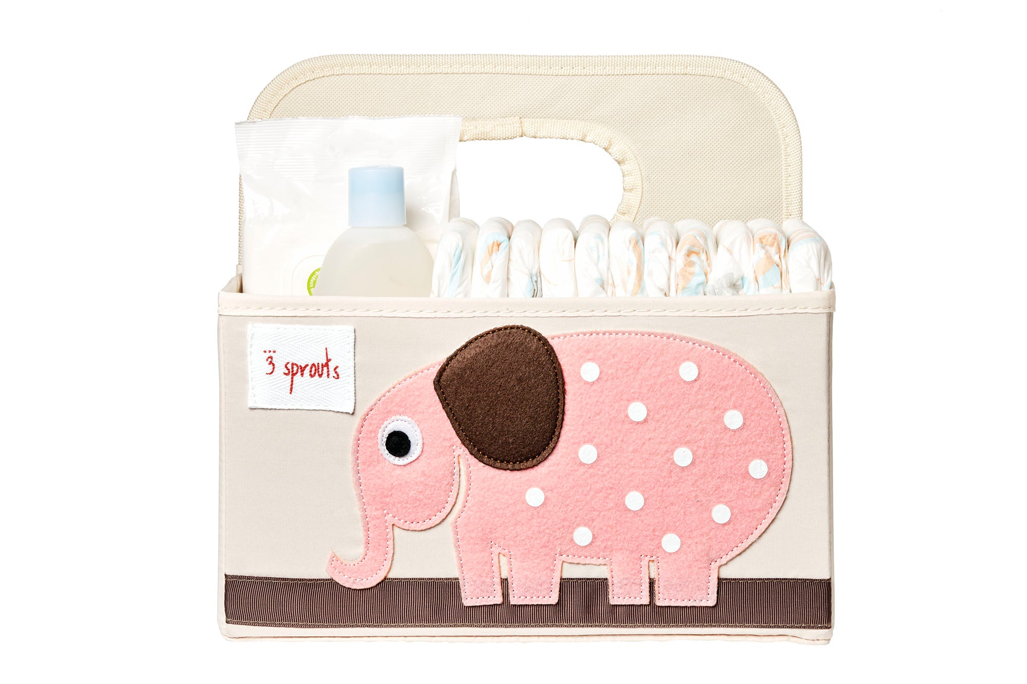3 Sprouts –  Diaper Caddy Elephant