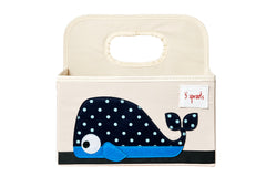 3 Sprouts –  Diaper Caddy Whale
