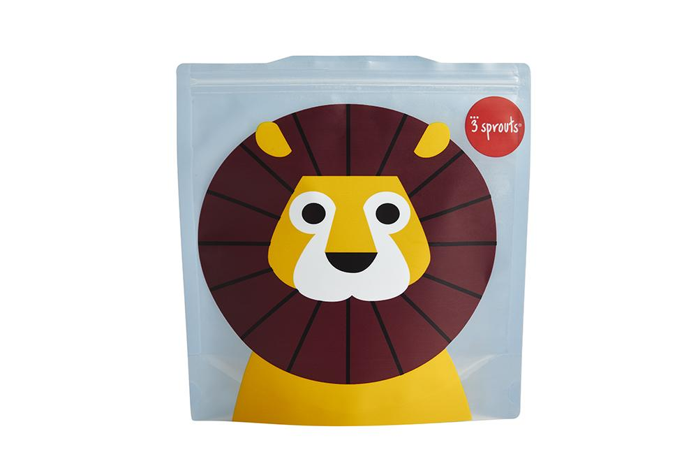 3 Sprouts - Pack de 2 Bolsitas Sandwich Lion