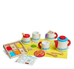 Melissa & Doug – Wooden Steep & Serve Tea Set