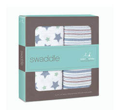 Aden+Anais - Swaddles x2 Prince charming