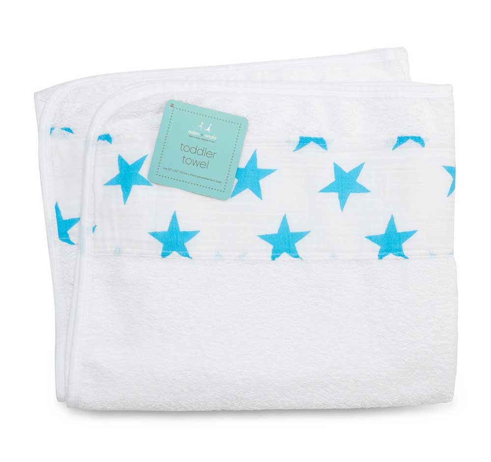 Toddler Towel Blue Stars