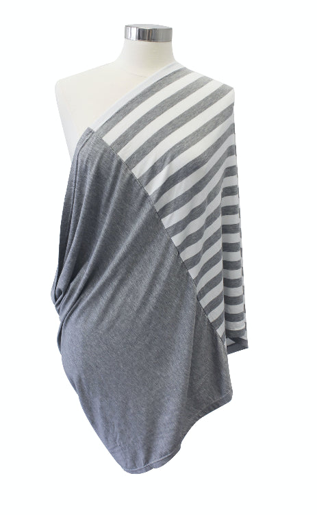 Itzy Ritzy - Bufanda para Amamantar Heather Gray Stripe