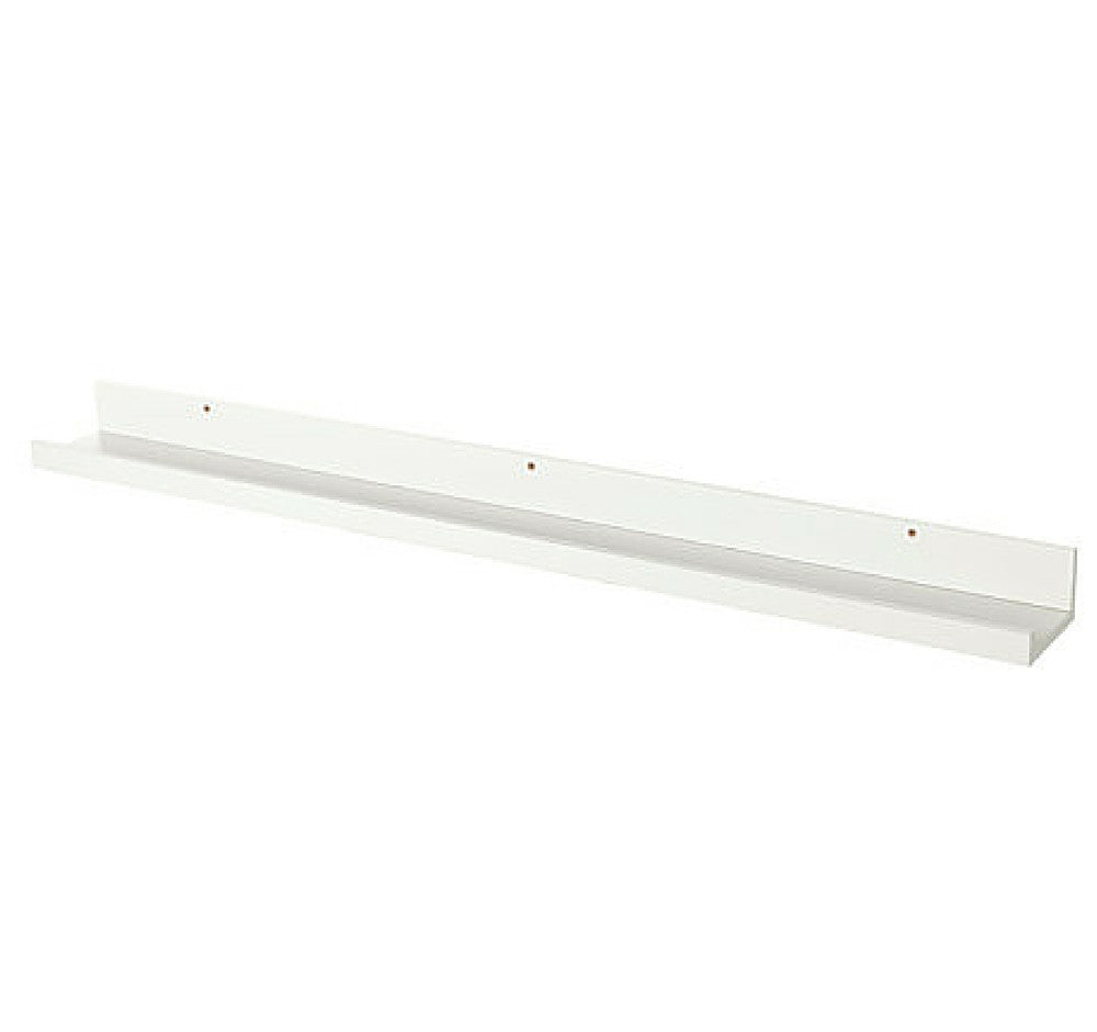 Ikea - Estante Largo Con Ranura, Blanco Mate