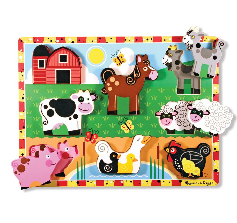 Melissa & Doug – Puzzle de madera Farm Animals